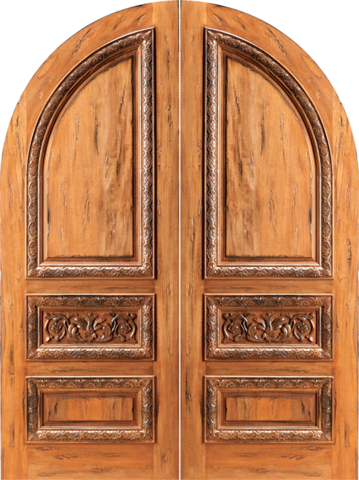 Arched Top Interior Double Doors on