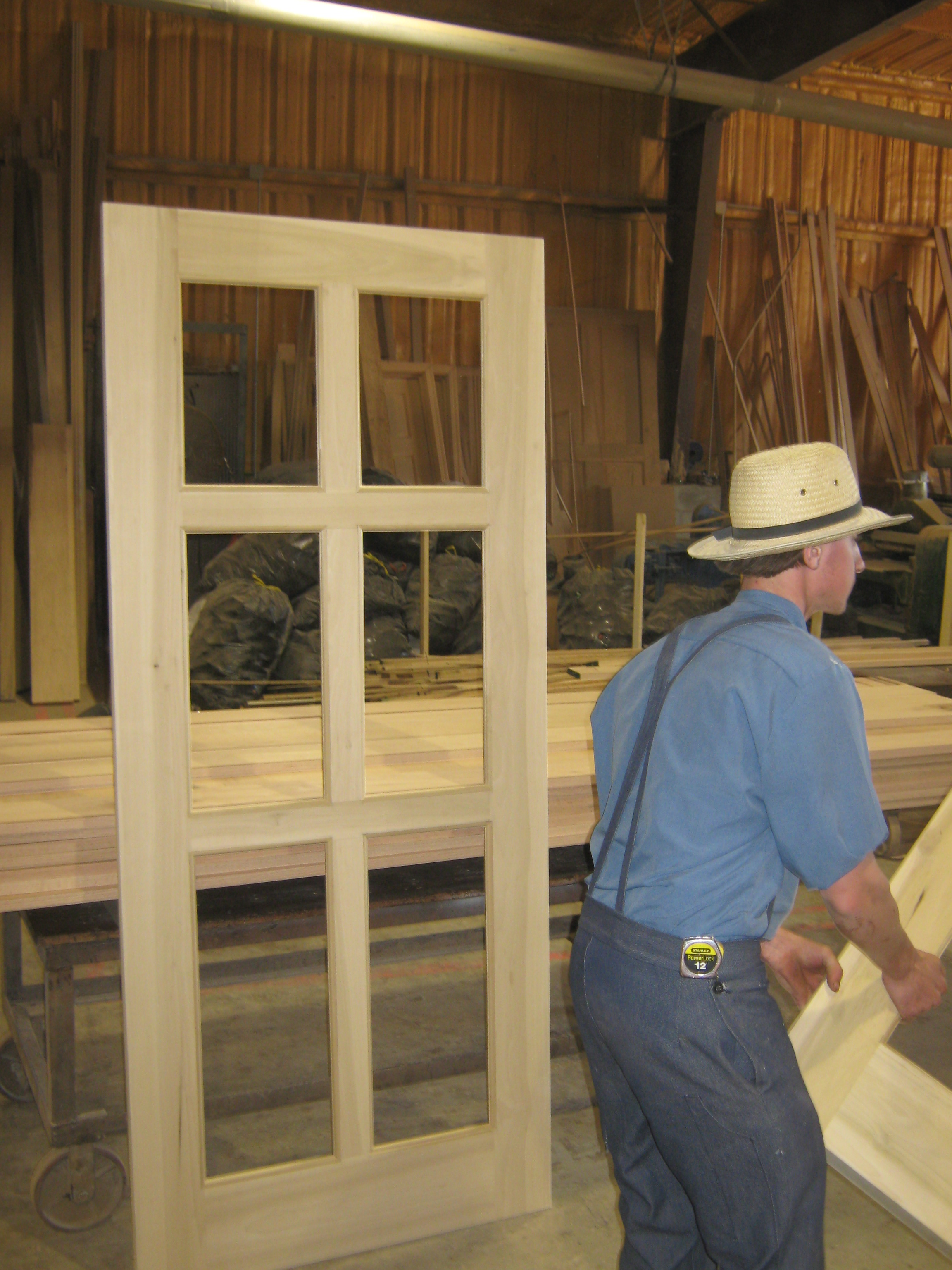 Shop pictures amish custom doors for Amish garage builders cleveland ohio