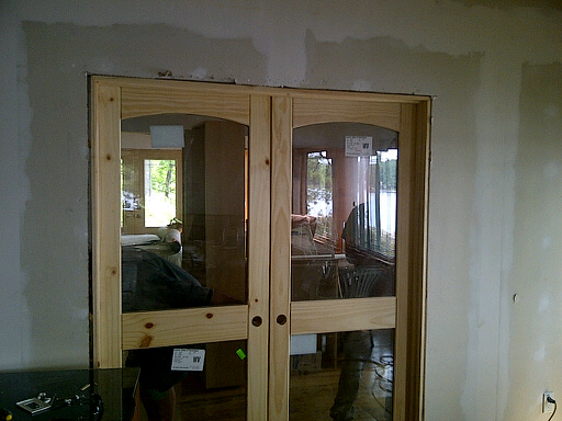 AMISH CUSTOM DOORS CUSTOM MILLED KNOTTY PINE INTERIOR DOORS INSTALLED IN  COLORADO !! WE STOCK KNOTTY PINE DOORS In 80 INCH HEIGHT AND WIDTHS Of 18 ,  24 , 28 ...