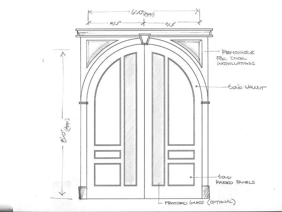 Round Top Interior Doors And Exterior Entryway Doors - Amish Custom Doors