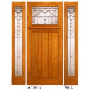 The finest Amish custom built mahogany / oak craftsman doors with matching side lights !! available in 6 ft 8 in or 7 ft height.  sc 1 st  Amish Custom Doors & Arts \u0026 Crafts / Craftsman Style Doors - Amish Custom Doors