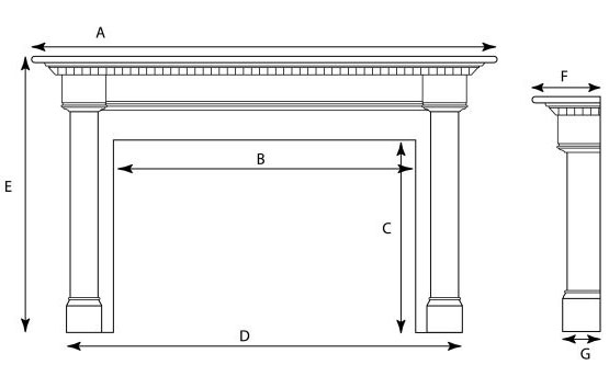 fireplace mantle measurements 2