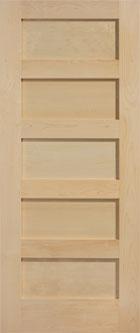 five panel pine doors