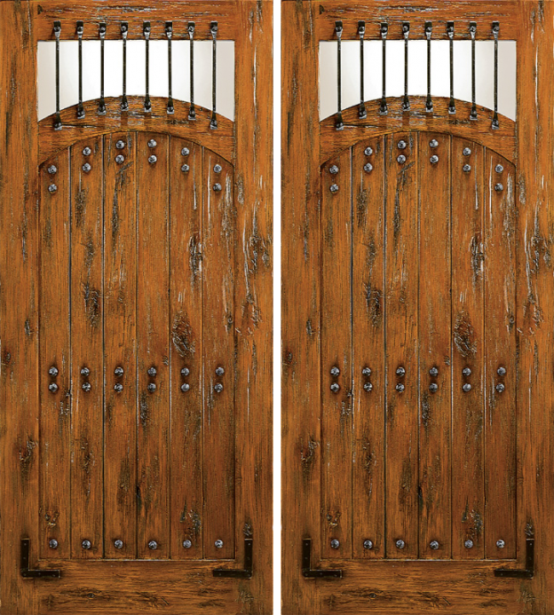 Model SW 65 & AMISH CUSTOM RUSTIC DOORS / RUSTIC EXTERIOR DOORS / KNOTTY ALDER ...