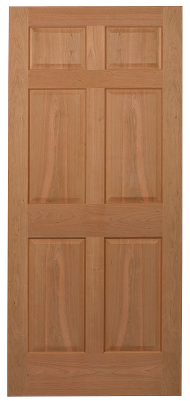 AMISH CUSTOM DOORS WE TRY TO KEEP THES SIX ( 6 ) PANEL CHERRY INTERIOR DOORS  IN STOCK !! WE SHIP TO COLUMBUS OHIO AND OTHER POINTS IN OH WEEKLY !!