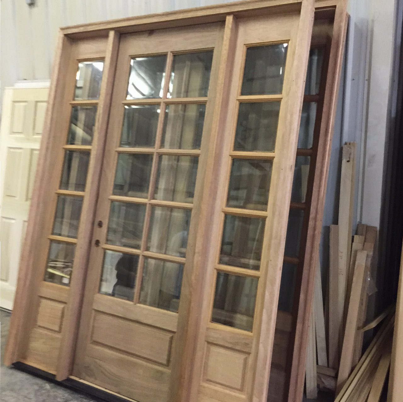 Elegant COM ( AMISH CUSTOM DOORS ) PICTURES OF DOOR BEING PREHUNG ! SOLID MAHOGANY 8  FT DOOR / 10 LIGHT TRUE DIVIDED WITH BEVELED INSULATED GLASS DOOR 36 X 96  With ...