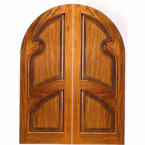 Rustic Knotty Alder Arch Radius Head Doors Half Round Doors Amish Custom Doors