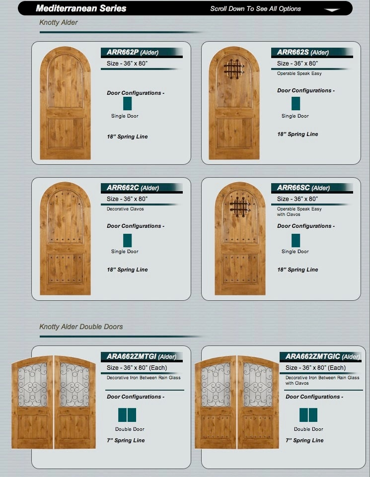 rustic knotty alder doors