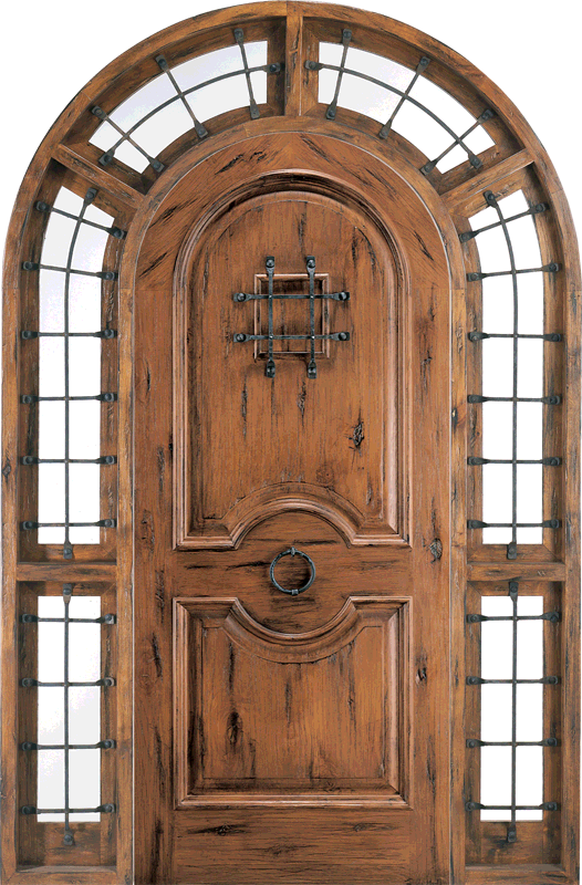 shad 101 & Rustic Knotty Alder Arch Radius Head Doors ( HALF ROUND DOORS ...