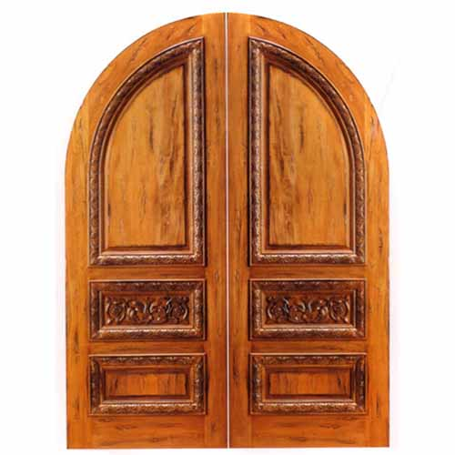 KNOTTY ALDER RUSTIC DOORS ./ ENTRYWAYS / ENTRYS !! INTERIOR or EXTERIOR USE !! INSULATED FLAT GLASS OR BEVELED GLASS IN STAIN GRADE JAMB !!  sc 1 st  Amish Custom Doors & Rustic Knotty Alder Arch Radius Head Doors ( HALF ROUND DOORS ... pezcame.com
