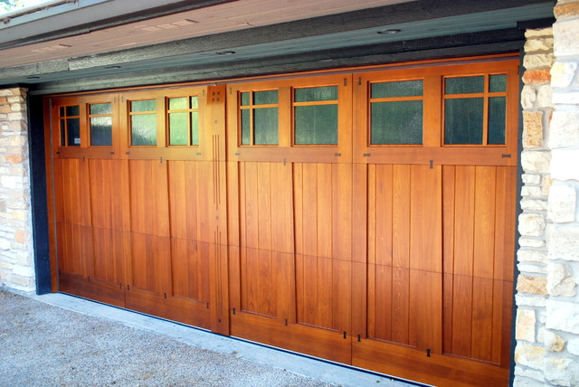 Custom Carriage Doors With Gl Craftsman Prairie Style Or Flw Barn Double Sliding