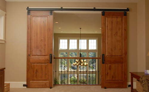 RUSTIC KNOTTY ALDER INTERIOR SLIDING DOORS CUSTOM MILLED TO CUSTOMERS  SPECIFICATIONS In WALNUT
