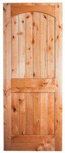 solid knotty alder two panel v groove interior door prehung or slab