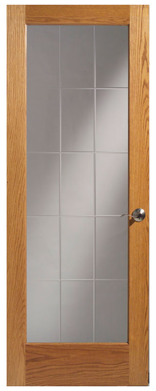 Ld oak 15 lite v groove amish custom doors for 15 lite interior door