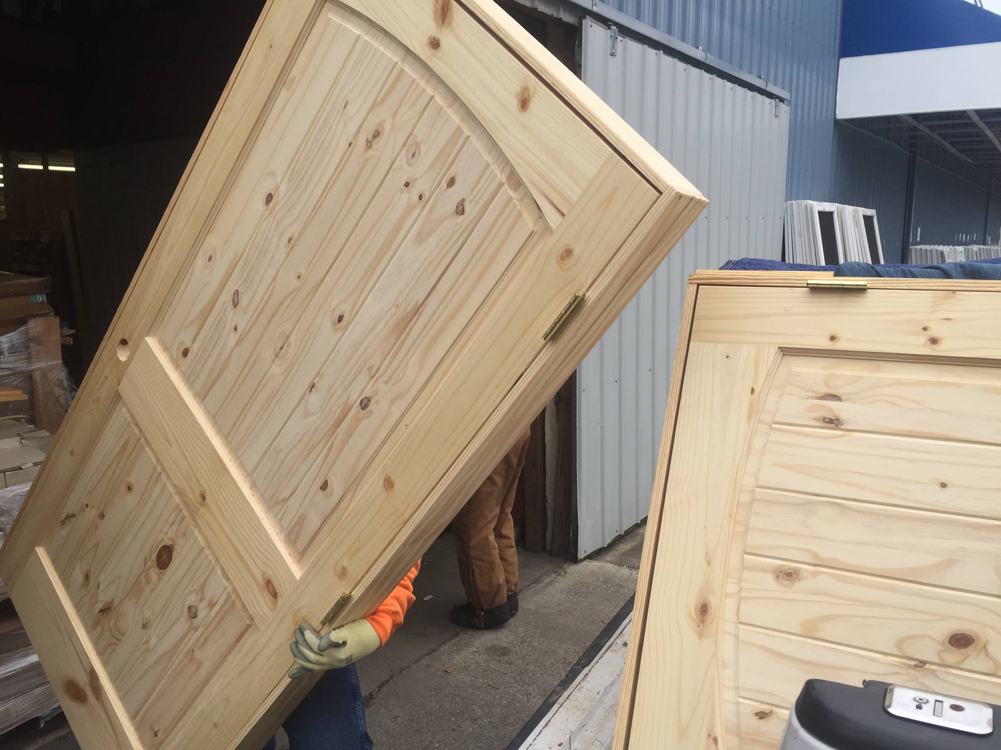 Knotty Pine Interior Doors In Stock With V Grooves Prehung