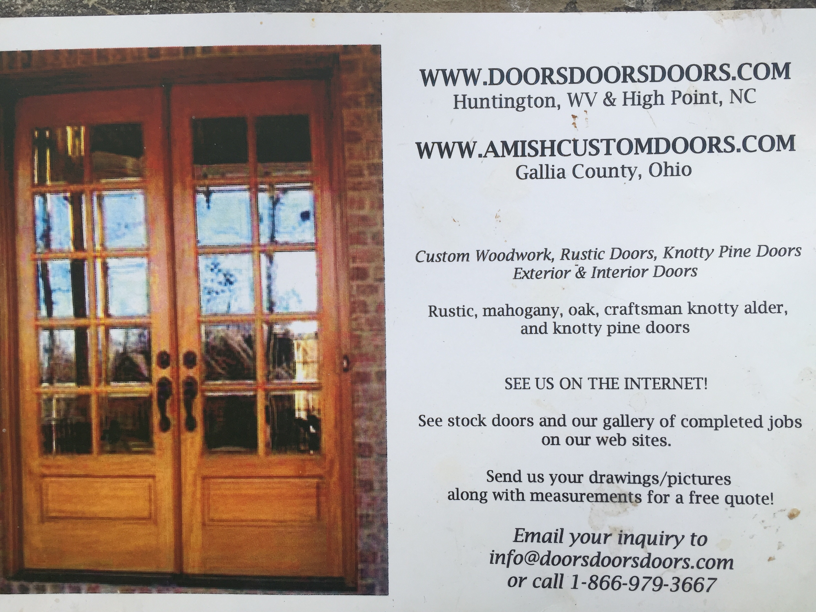 AMISH CUSTOM FIRE RATED DOORS
