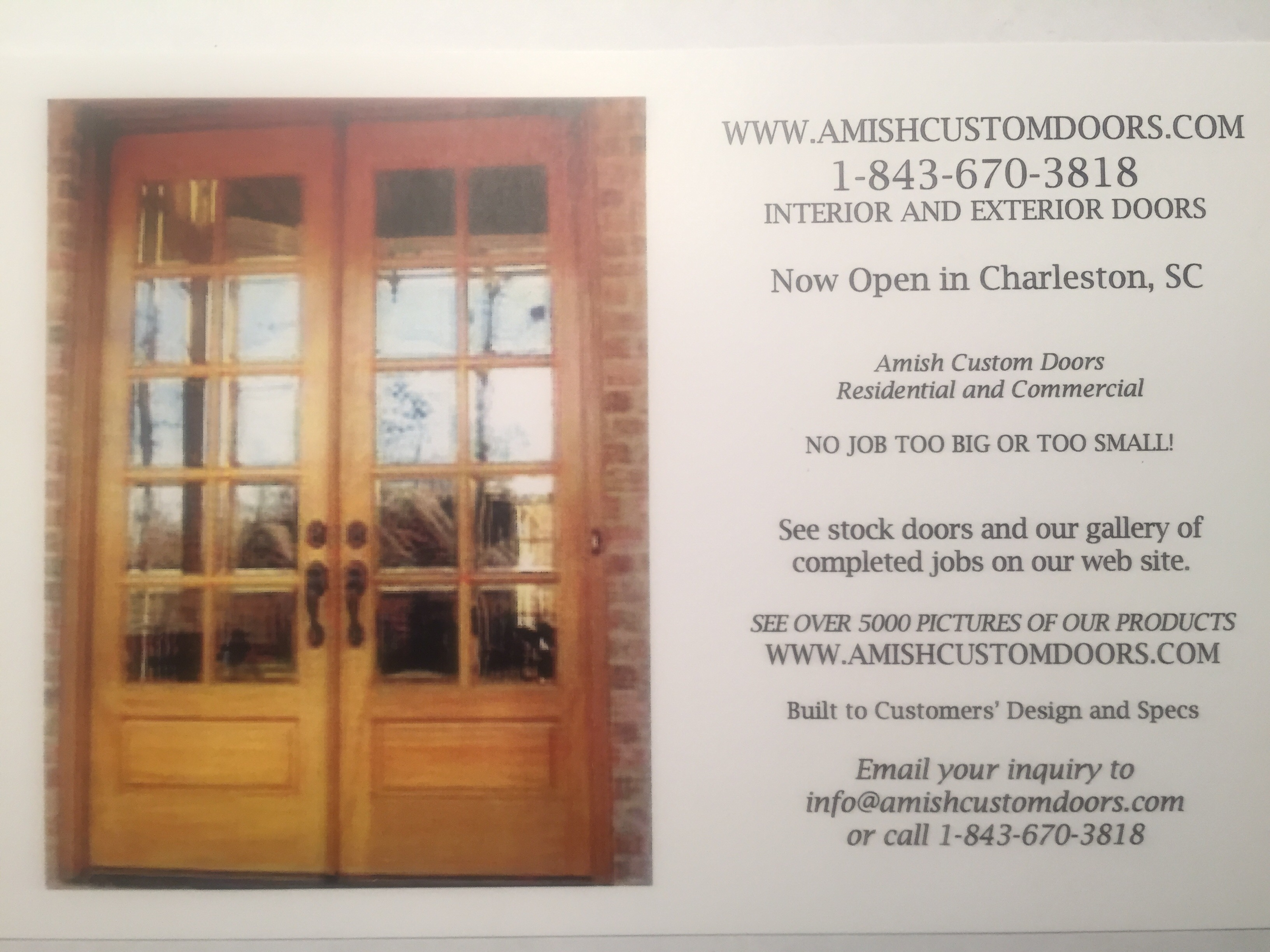 Custom Interior Wood Doors Amish Custom Doors