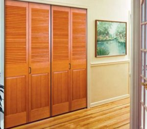 CUSTOM LOUVERED INTERIOR SLIDING DOORS / HALF LOUVER / CLEAR STAIN GRADE /  PANEL BOTTOM INTERIOR LOUVERED DOORS / PREHUNG INTERIOR LOUVER DOORS Or  SLABS