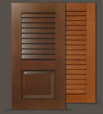 Open Louvered Closet And Cabinet Doors