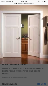AMISH CUSTOM DOORS INTRODUCES THREE STYLES OF CRAFTSMAN INTERIOR DOORS /  THESE DOORS ARE SOLID WOOD STILE And RAIL CONSTRUCTION With AND MDF SKIN  FOR A ...