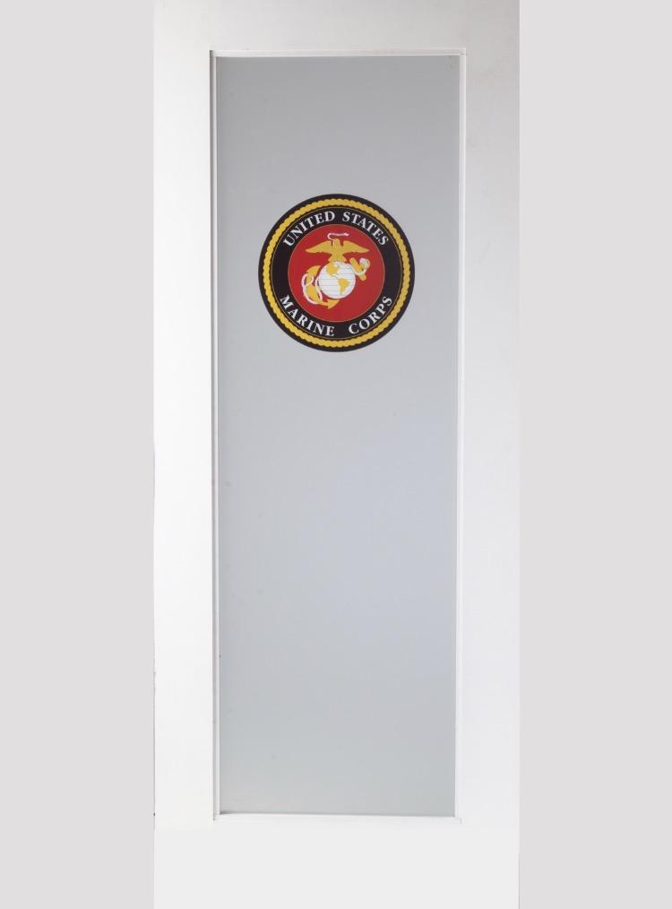 Doors with logos amish custom doors for Paint and wine lexington ky