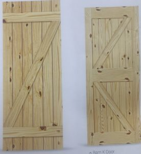 KNOTTY PINE INTERIOR DOORS PREHUNG Or SLABS / 80 Inch In HEIGHT / WIDTHS Of  18 , 24 , 28 , 30 , 32 And 36 / OTHER SIZES WE CUSTOM BUILDAMISHCUSTOMDOORS.