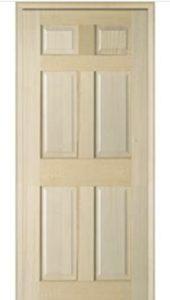 Elegant Maple Six Panel Interior Doors In Stock