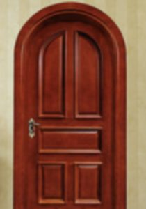 Charmant Custom Round Top Interior Door With Raised Panels And Raised Molding Milled  From Cherry