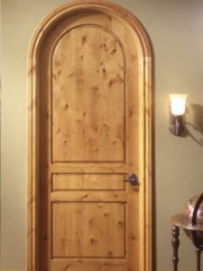 Knotty Alder Round Top Interior Door . Three Panel Custom Interior Doors  Prehung