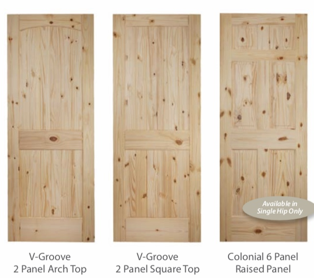In Stock Knotty Pine Interior Doors Prehung Or Slabs